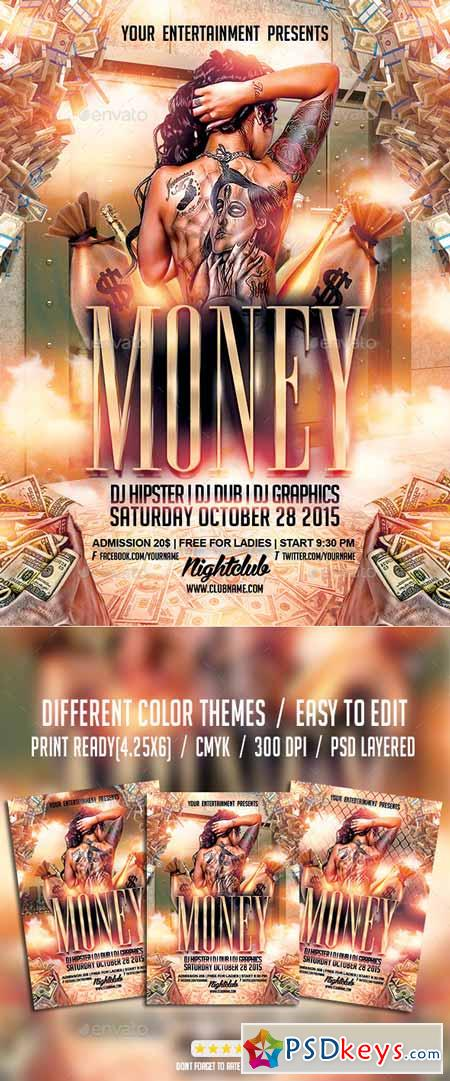 Cash Money Party Flyer Psd Template 10033750 Free Download
