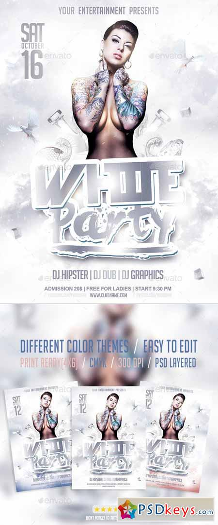 White Party Flyer Psd Template 9554128 Free Download Photoshop