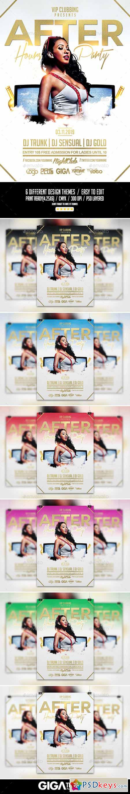 After Hours Party Night Flyer PSD Template 10523374