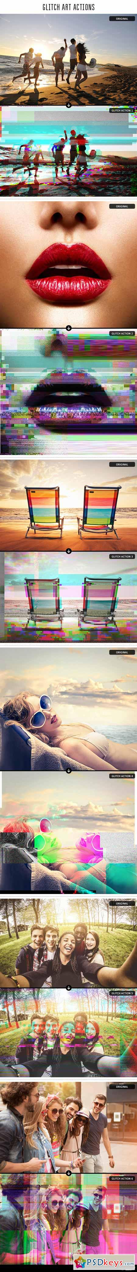 Glitch Art Photoshop Actions 11455182
