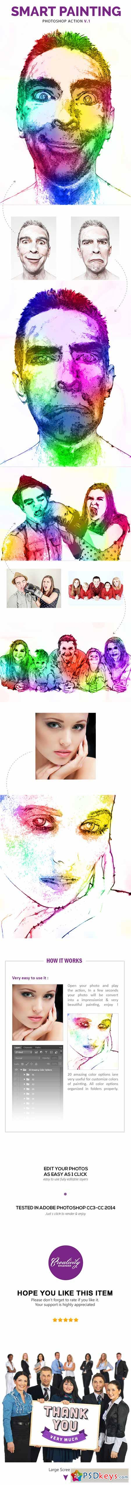 Smart Painting Vol.1 - Photoshop Action 11459711