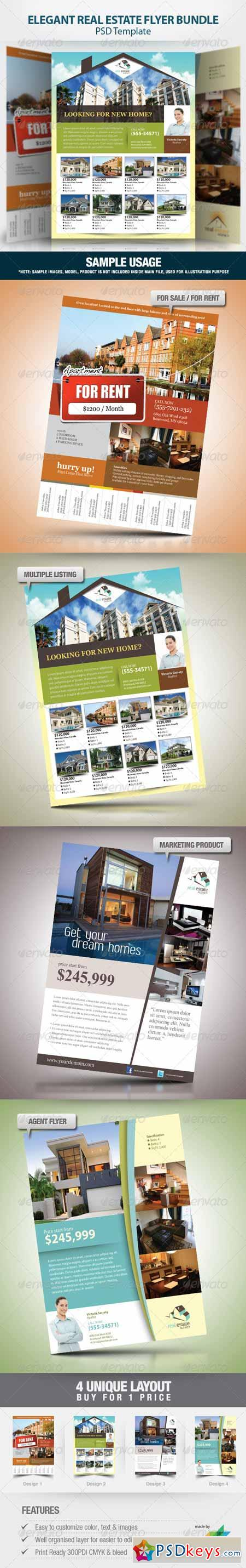 elegant real estate flyer set 716124 photoshop elegant real estate flyer set 716124