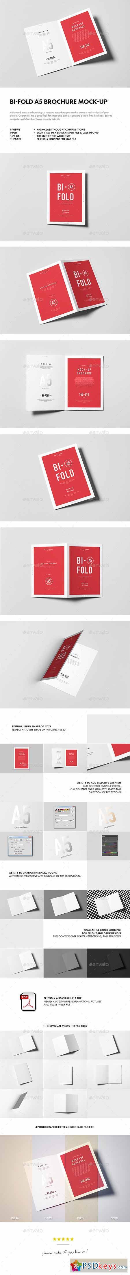 Bi-Fold A5 Brochure Leaflet Mock-up 10697780