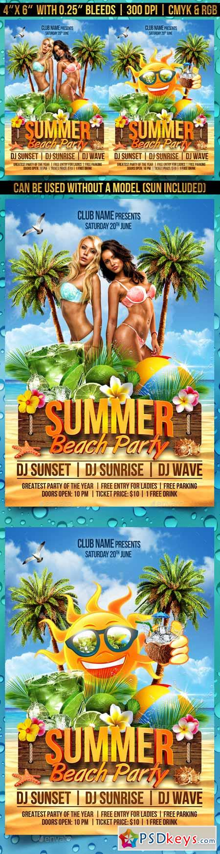 Summer Beach Party Flyer 11321998