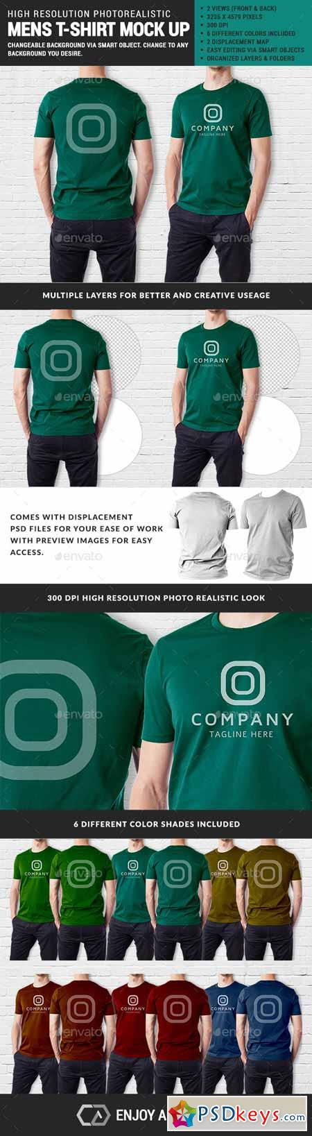 Men Multipurpose Tshirt Mock Up 11455167