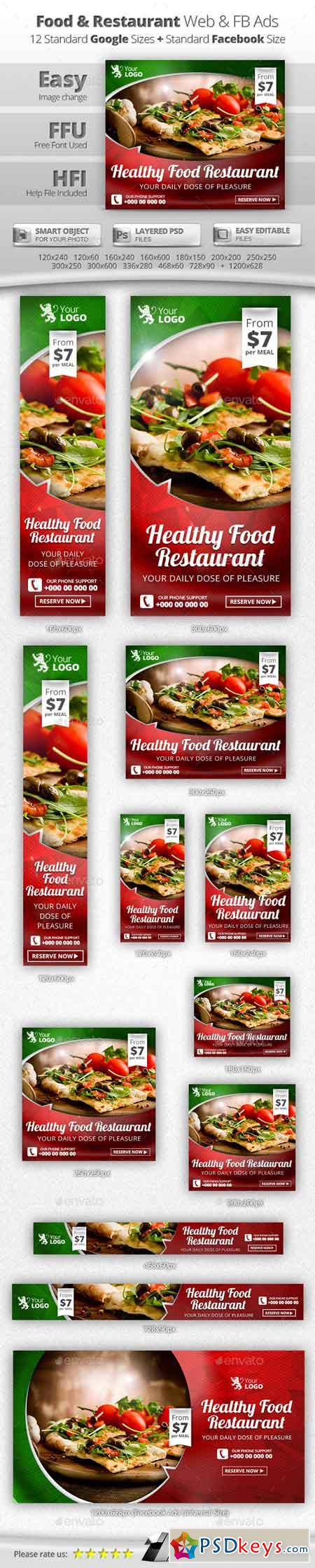 Food & Restaurant Web & Facebook Banners 11526063