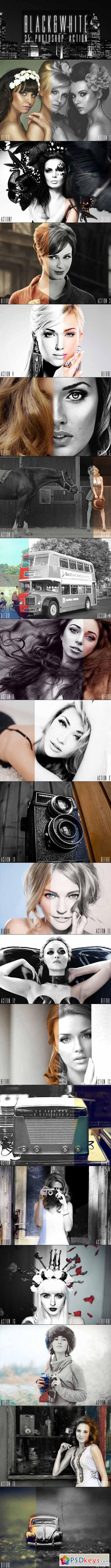25 Black & White Photoshop Actions 11527320