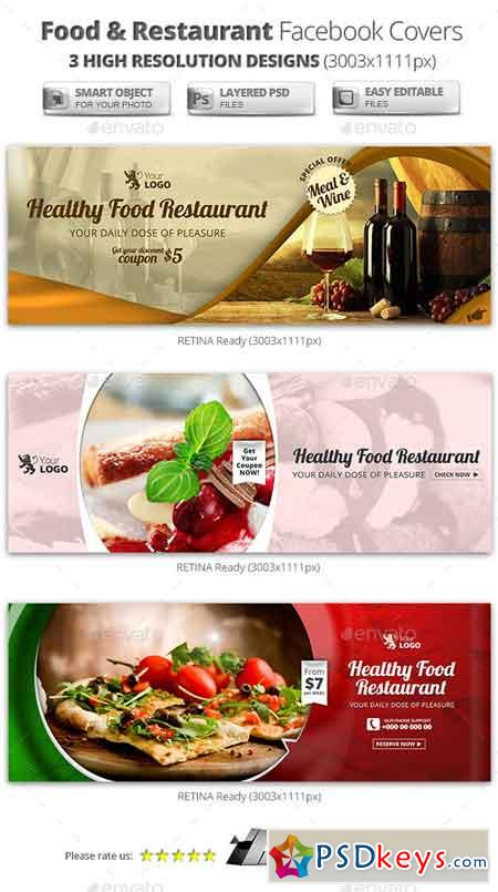 Food & Restaurant Campaign Facebook Covers 11526198