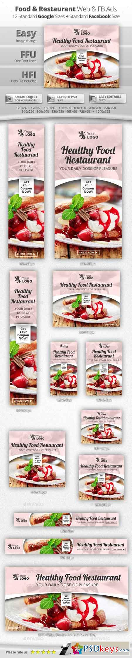 Food & Restaurant Web & Facebook Banners