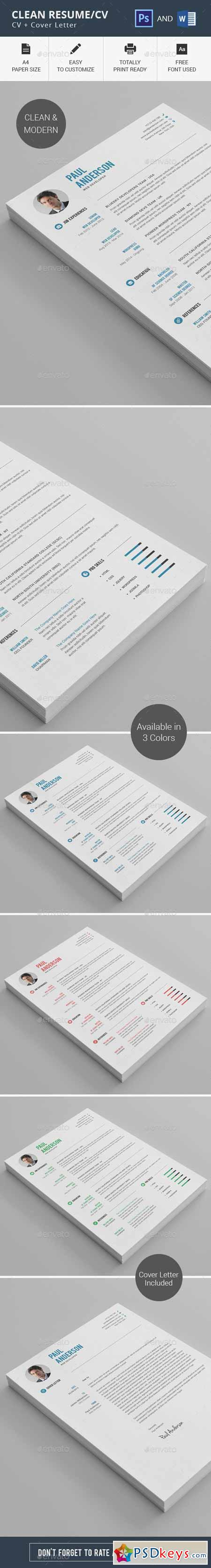 clean resume cv 11274948  u00bb free download photoshop vector stock image via torrent zippyshare