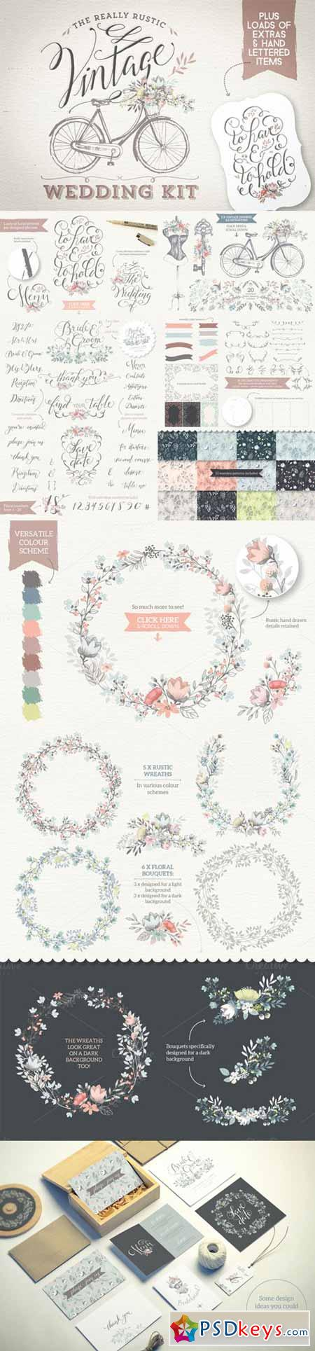 Really Rustic Vintage Wedding Kit 199465