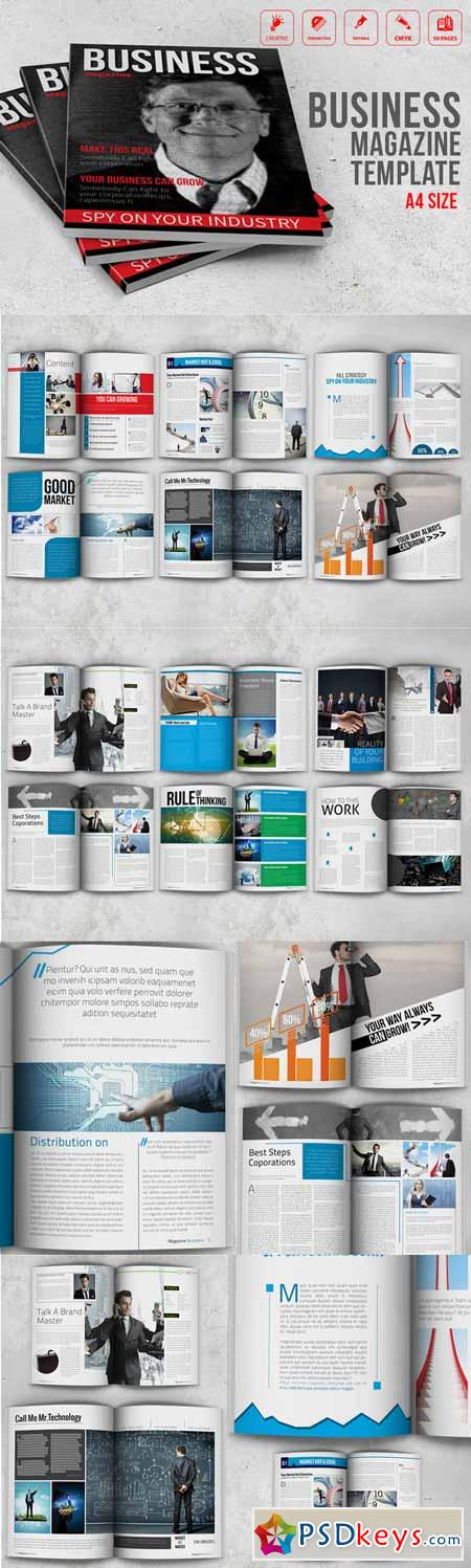 Business Magazine Template 279530