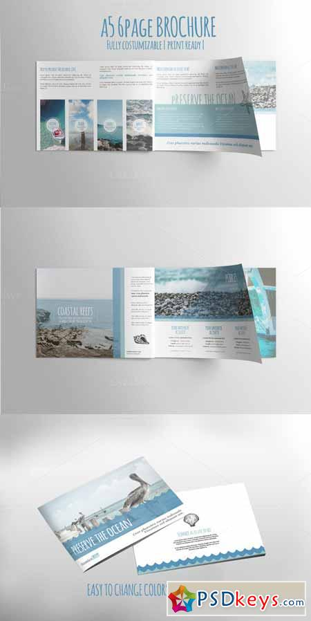 A5 6PAGE Preserve the Ocean Brochure 276948