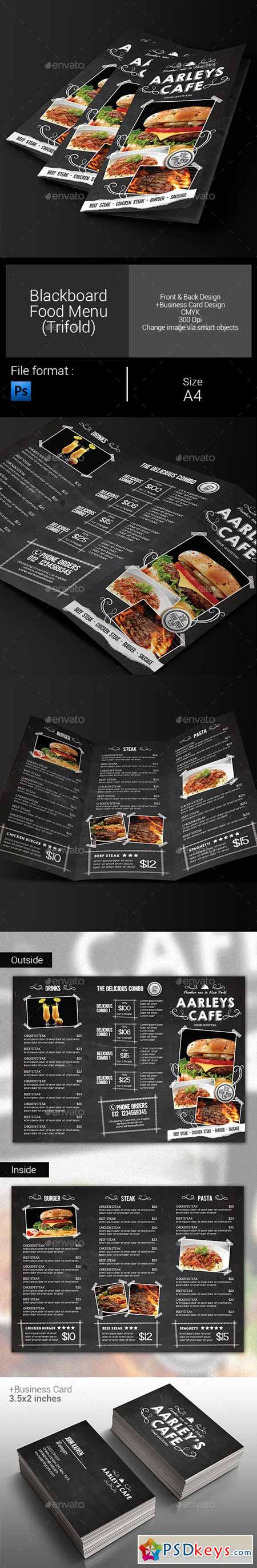 Blackboard food menu trifold business card 9897895 free blackboard food menu trifold business card 9897895 magicingreecefo Image collections