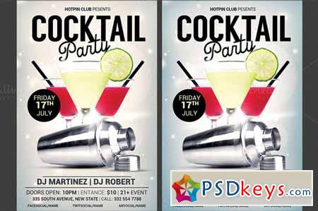 Cocktail Party Flyer Template 275134