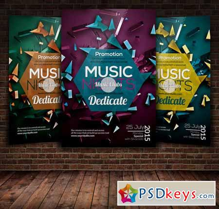 Music Party Flyer Template 271579