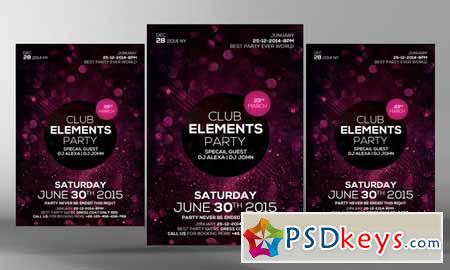 Club Elements Party Flyer Template 280343
