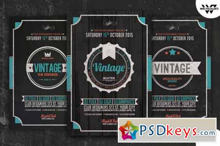 VINTAGE Flyer Template Vol.4 259739