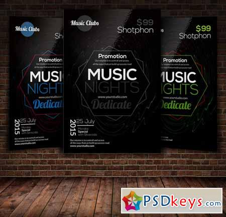 Music Party Flyer Template 271938