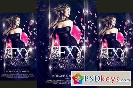Sexy in Black Party Flyer 282028