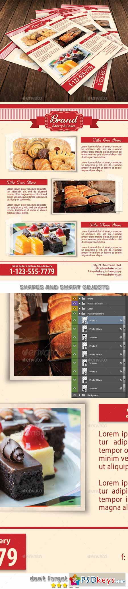 Bakery Food Flyer Template 93 11533259