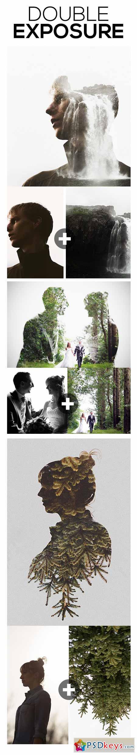 Double Exposure Photoshop Action 11617764