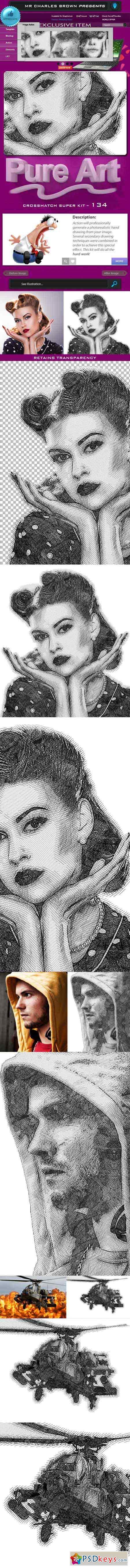 Pure Art Hand Drawing 134 – Crosshatch Super Kit 11610071