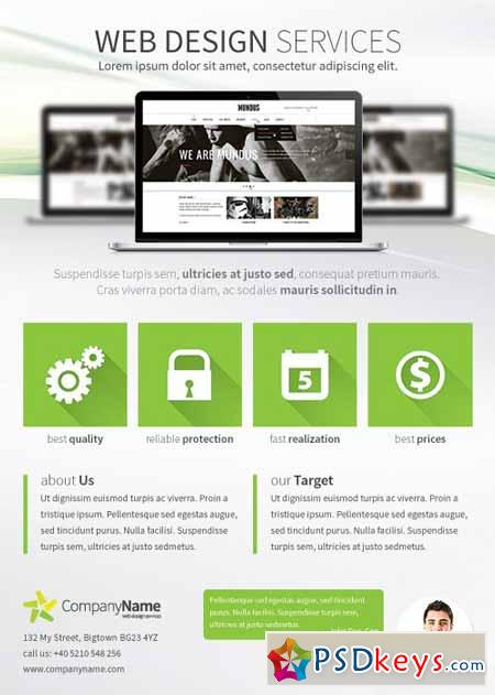 Web Design Services A4 Flyer 281700 » Free Download Photoshop ...