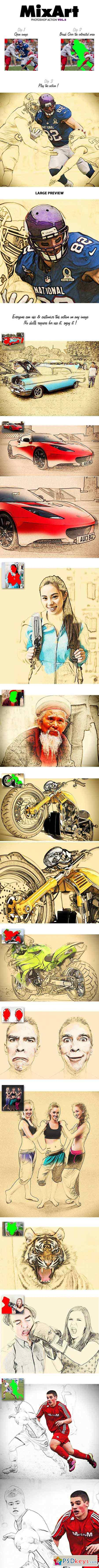 MixArt Vol.2 - Photoshop Action 11589521