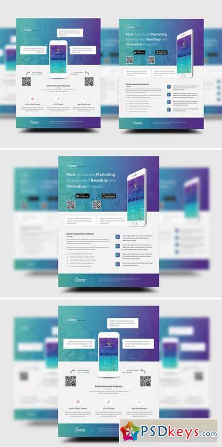 mobile app promotion flyer templates 283387 free download