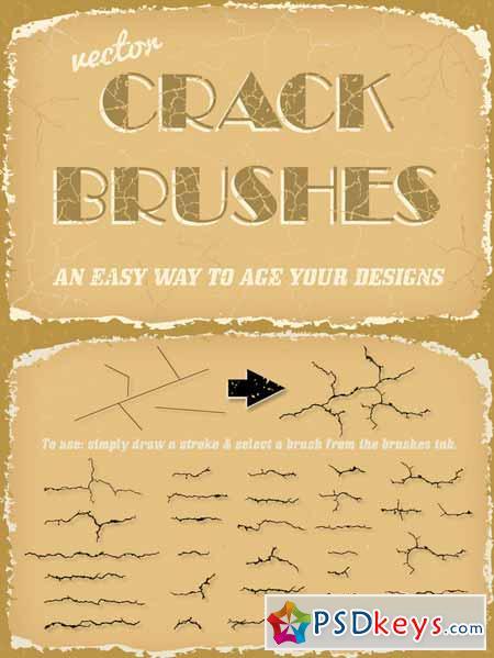 Vector Crack Brushes 101089