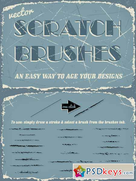 Vector Scratch Brushes 100602