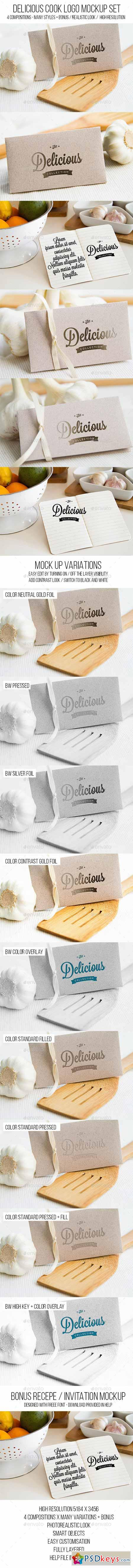 Delicious Cook Logo Mockup Set 11495145
