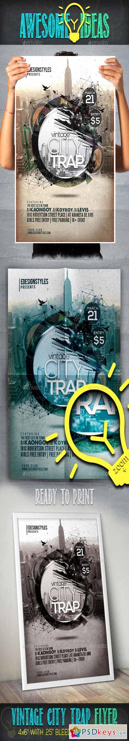 VIntage City Trap Flyer 10863548