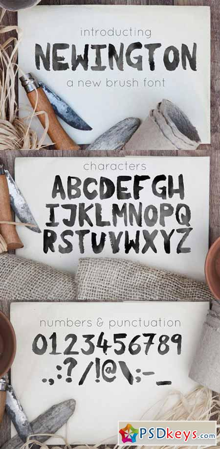 Newington, a brush font 291233