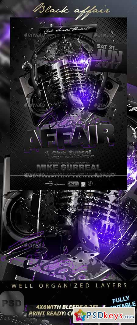 black affair party flyer 11480898 free download photoshop vector