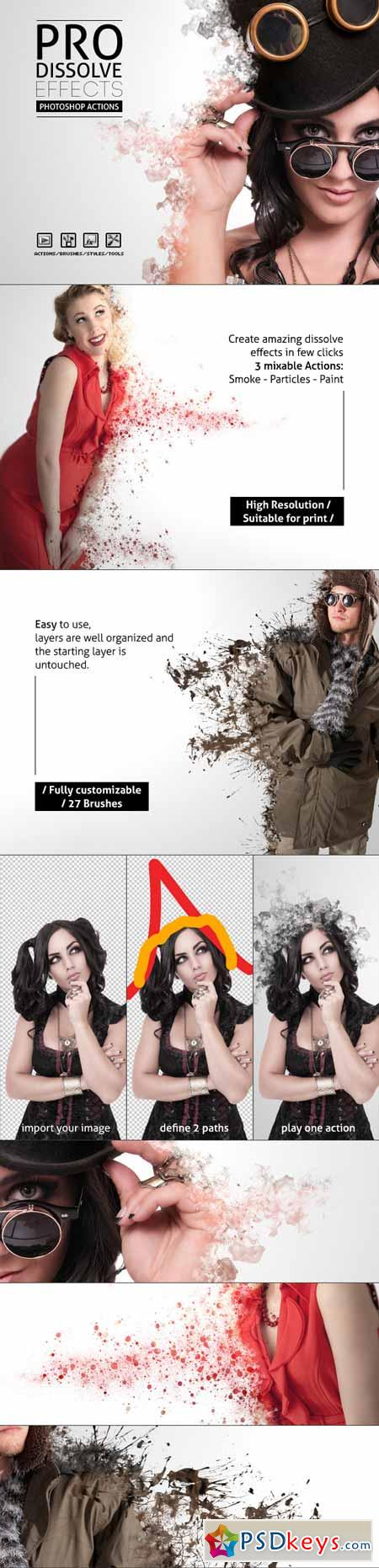 Pro Dissolve Effects - Photoshop Actions 7365409