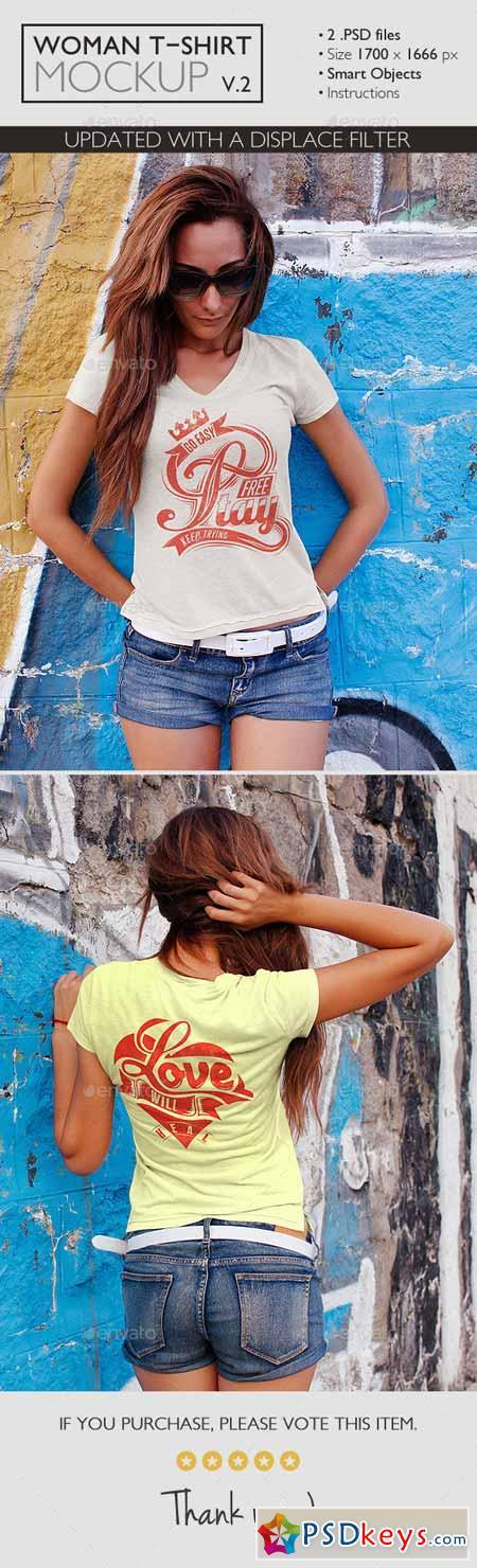 Woman t shirt mockup v 2 11625033 free download for Woman t shirt mockup