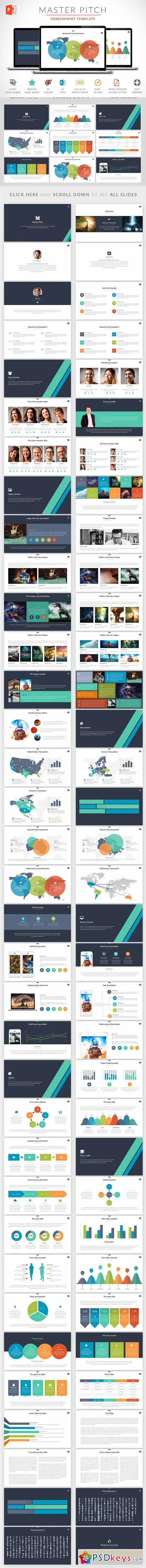 master pitch powerpoint template 291890 » free download photoshop, Modern powerpoint