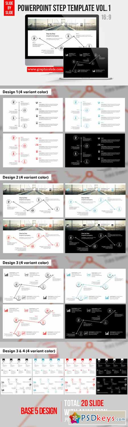 Powerpoint Step Template Vol.1 292019