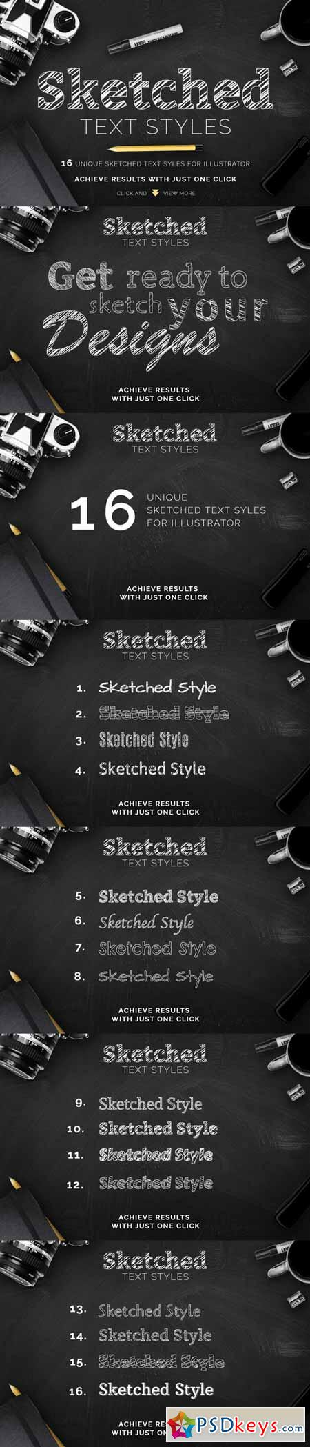 Sketched Text Styles Chalkboard Efx 292443