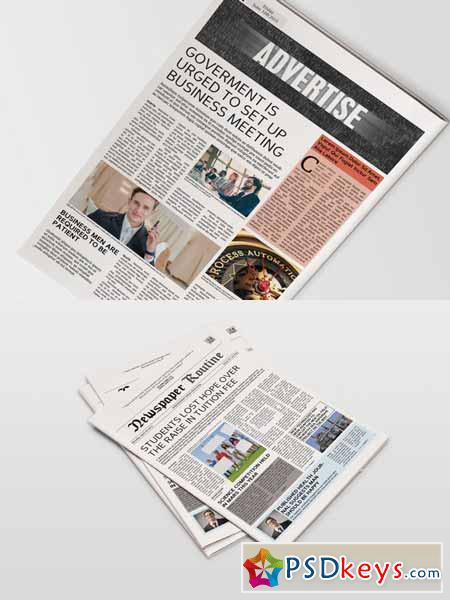 Newspaper Template 14 Pages 297226 Free Download Photoshop Vector