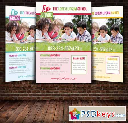 School Education Flyer Template 247283 Free Download Photoshop