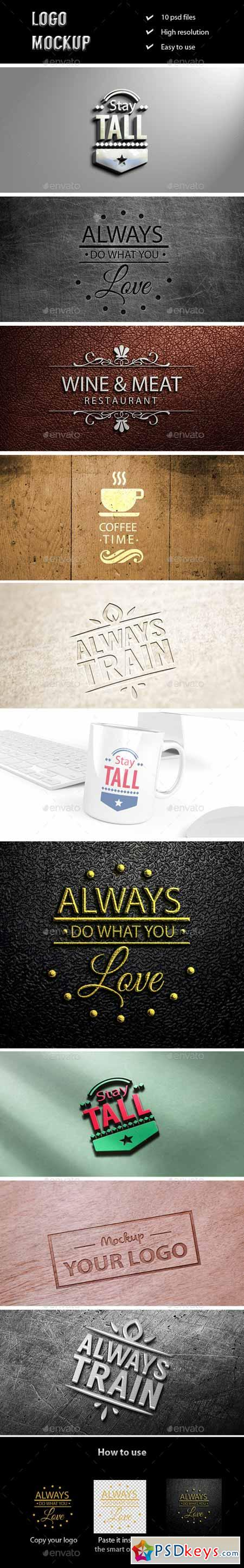Logo Mockup Collection 2 11690846 » Free Download Photoshop