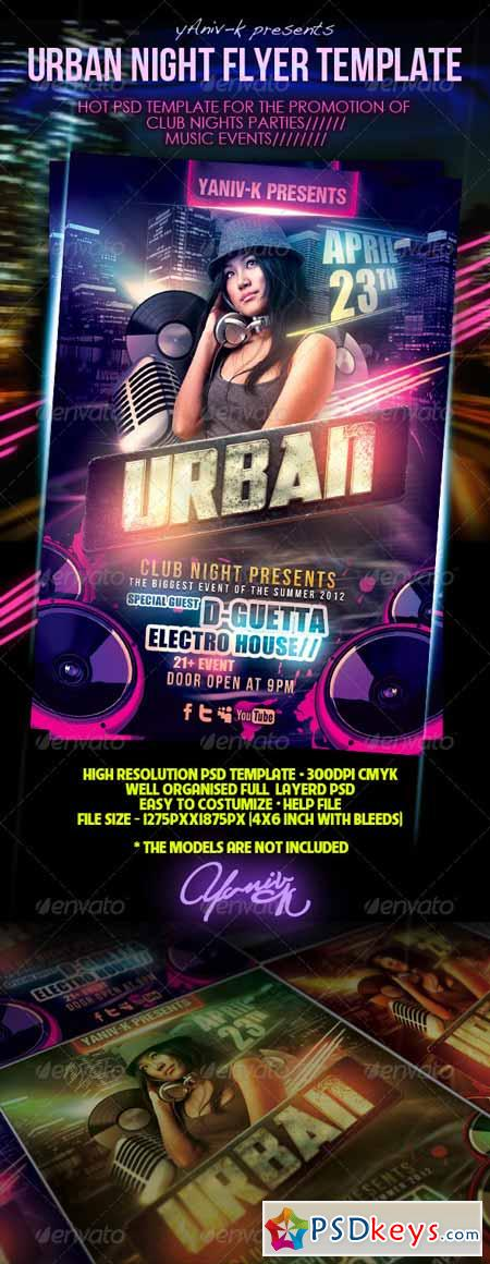 Urban Night Flyer Template 2346645 » Free Download Photoshop Vector