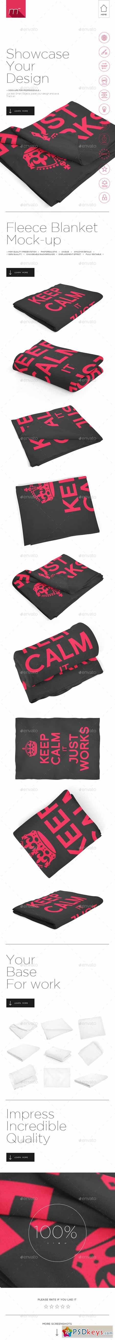 Fleece Blanket Mock-up 11799855