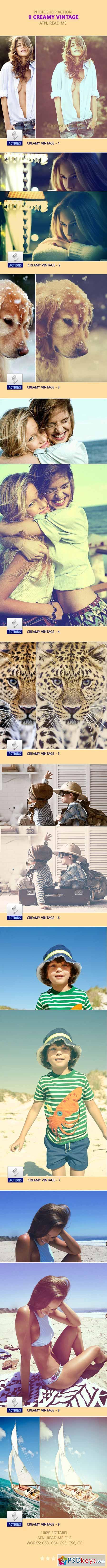 9 Creamy Vintage PS Action 11653075