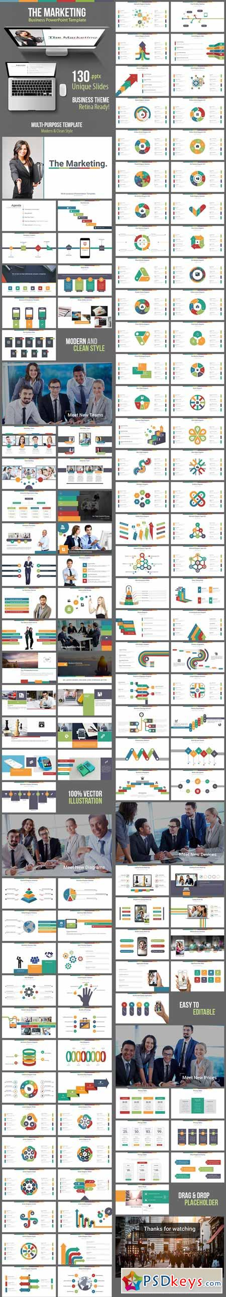 The Marketing - Business Powerpoint Template 11740170