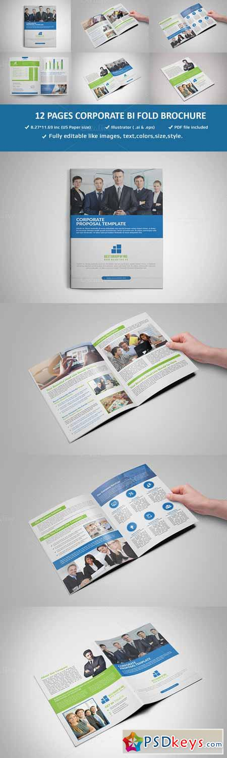 Pages Corporate Brochure Template Free Download - Brochure template for pages