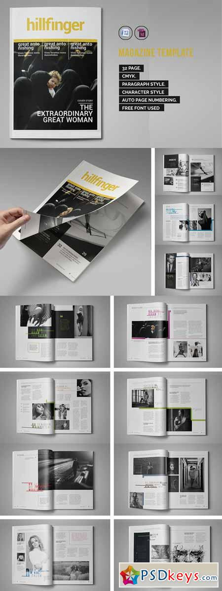 indesign magazine template 299953